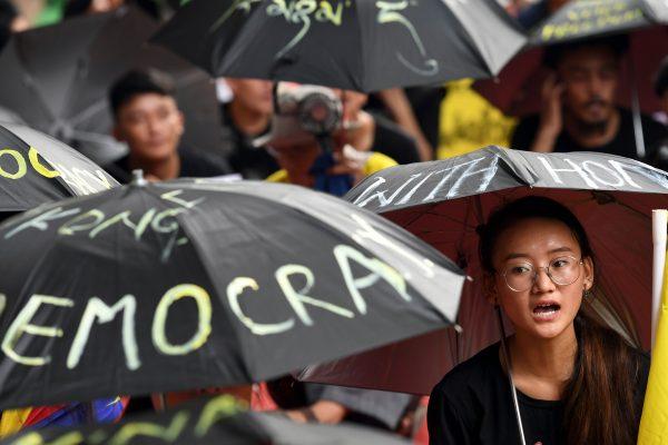 INDIA-HONG KONG-CHINA-POLITICS-UNREST