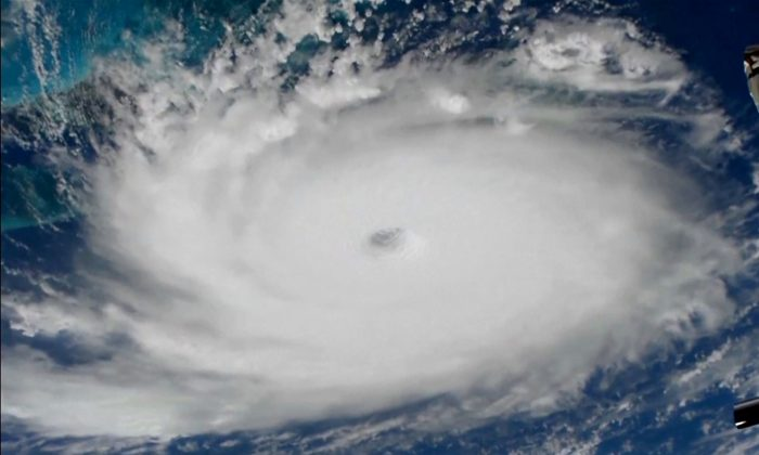 Hurricane Dorian is viewed from the International Space Station on Sept. 1, 2019. (NASA/Handout via Reuters)
