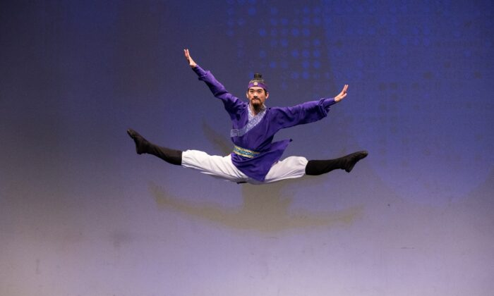 Victor Li in his 2018 performance for the NTD International Classical Chinese Dance Competition. He won second place. (The Epoch Times)
