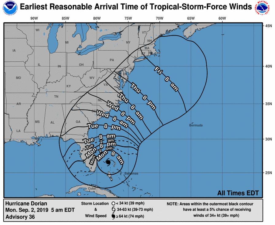 Follow live as 'monster' hurricane Dorian pounds on Bahamas, moves towards Florida