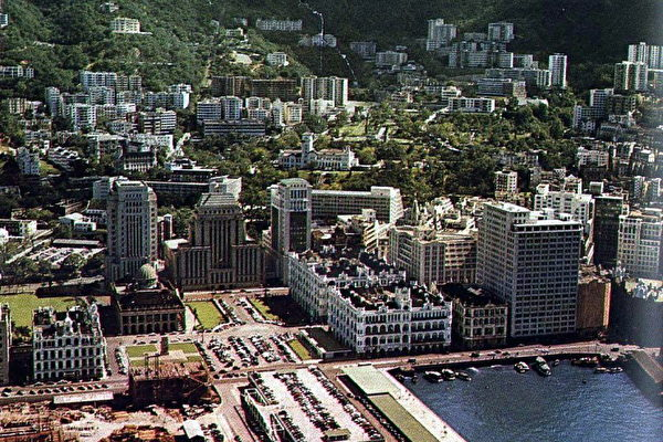 Central Hong Kong in 1955. (public domain)