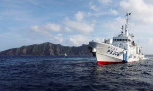 Japanese Destroyer Is Damaged by Chinese Fishing Boat After Collision in East China Sea