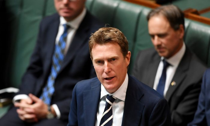 Christian Porter at Parliament House in Canberra, Australia on July 2, 2019. (Tracey Nearmy/Getty Images)