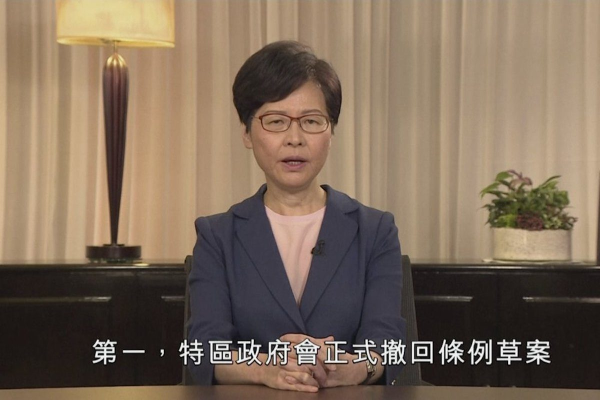 Carrie Lam withdraws bill