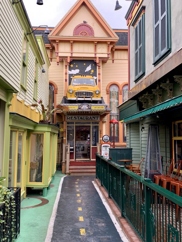 Colorful alley Bar Harbor