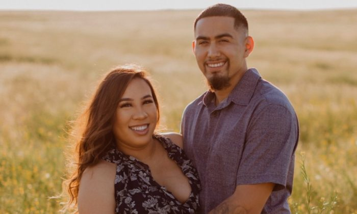 23-year-old Demi Ruben Dominguez and her fiancé, Ruben Xavier De Leon. (In loving memory of Demi/GoFundMe)
