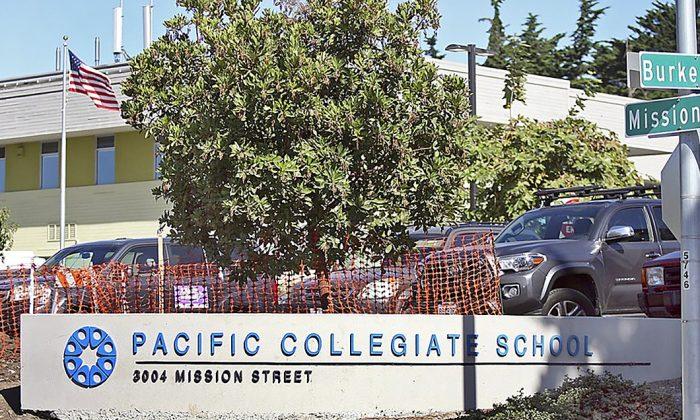 Exterior of Pacific Collegiate School in Santa Cruz, Calif., on Sept. 3, 2019. (Dan Coyro/The Santa Cruz Sentinel via AP)