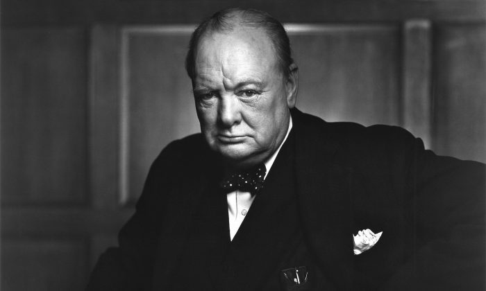 """Biographer William Manchester tells us """"no man wept more easily"""" than Churchill. (Yousuf Karsh. Library and Archives Canada, e010751643)"""