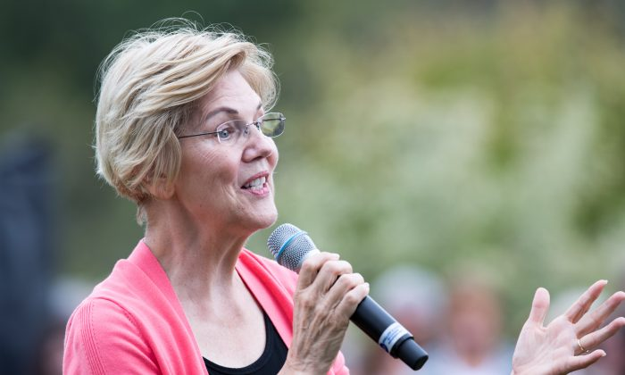 Democratic presidential candidate Sen. Elizabeth Warren (D-Mass.) on the campaign trail on Sept. 2, 2019. (Scott Eisen/Getty Images)