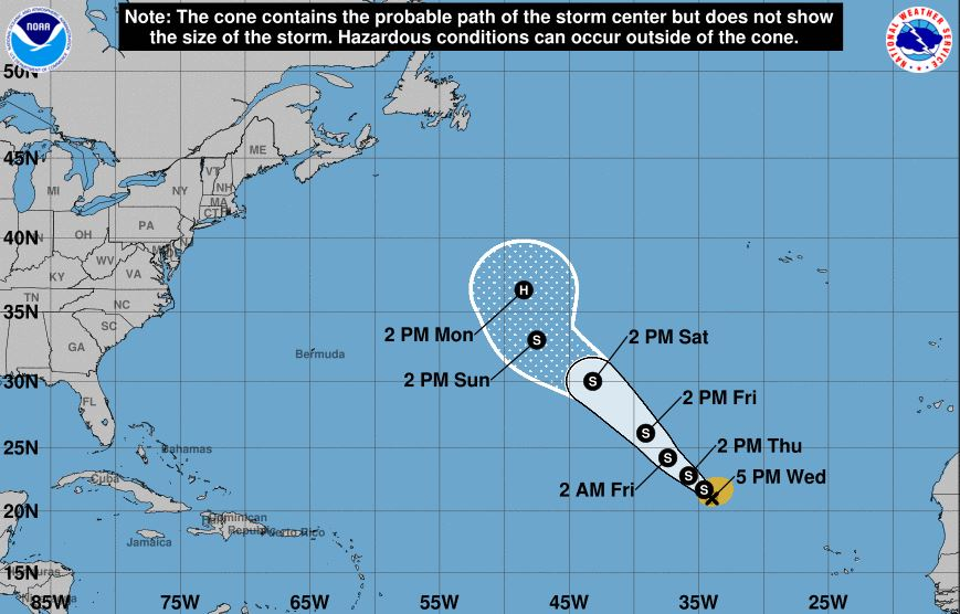 Tropical Depression Seven forms in the Gulf of Mexico