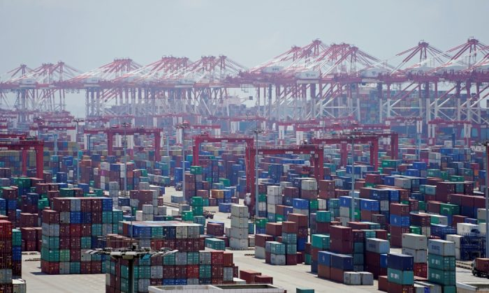 Containers are seen at the Yangshan Deep Water Port in Shanghai, China Aug. 6, 2019. (Aly Song/Reuters)