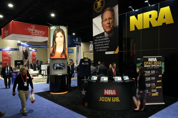The booth of National Rifle Association