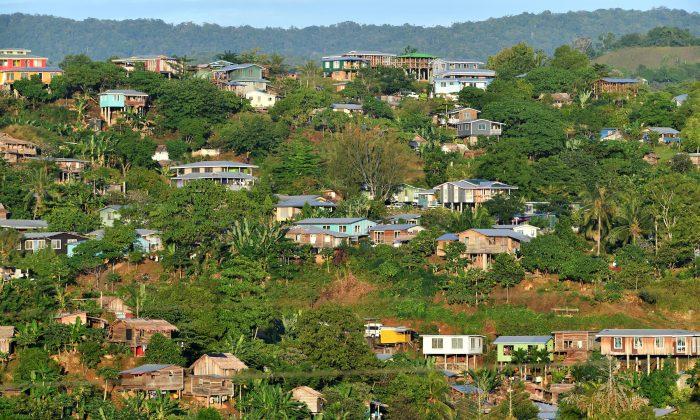 Houses are seen in Honiara in the Solomon Islands on June 3, 2019. (AAP/Darren England/via Reuters)