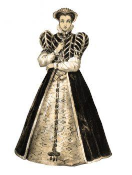 The queen Caterina de Medici