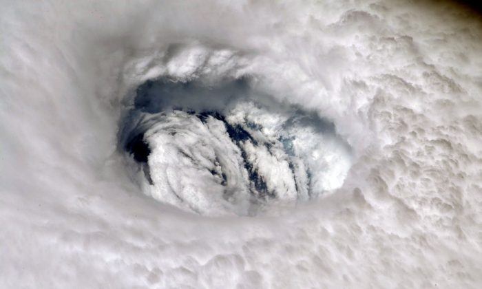 The eye of Hurricane Dorian as seen from the International Space Station. (NASA)