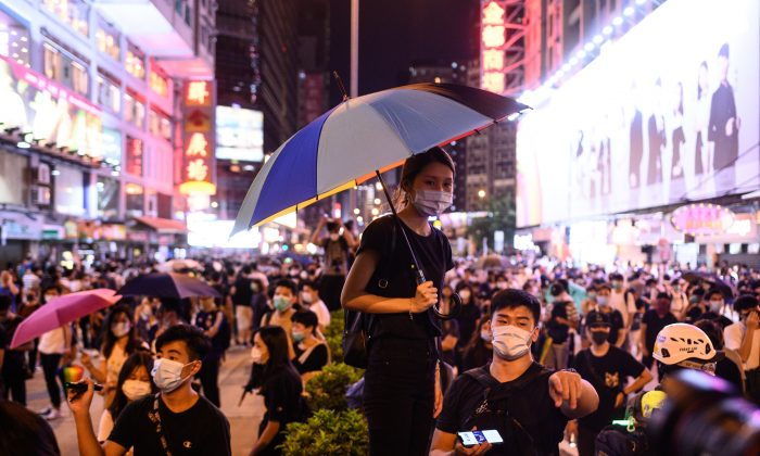 Protesters gather outside Prince Edward MTR station in Hong Kong on Sept. 6, 2019. (Philip Fong/AFP/Getty Images)