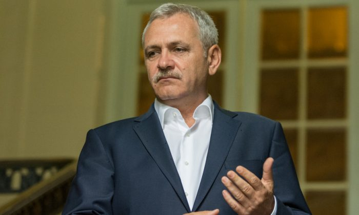 Liviu Dragnea, the former leader of The Social Democratic Party, in a file photo. (Florin Chirila/The Epoch Times)