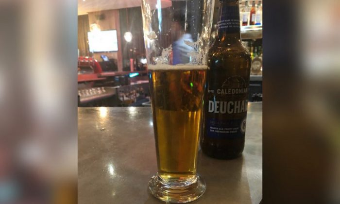A beer ordered by Australian journalist Peter Lalor. (Courtesy of Peter Lalor)
