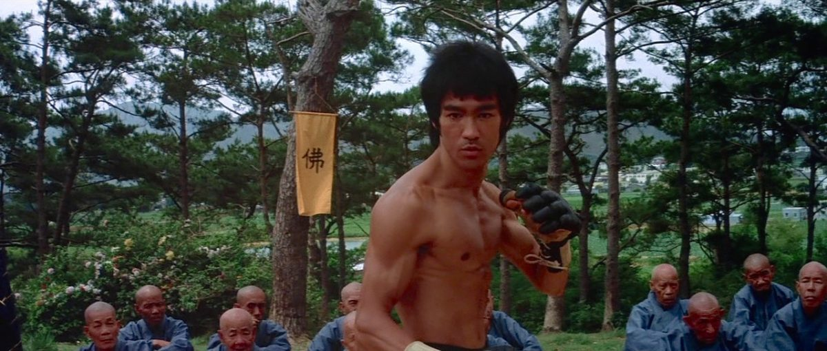 Bruce Lee in fight mode