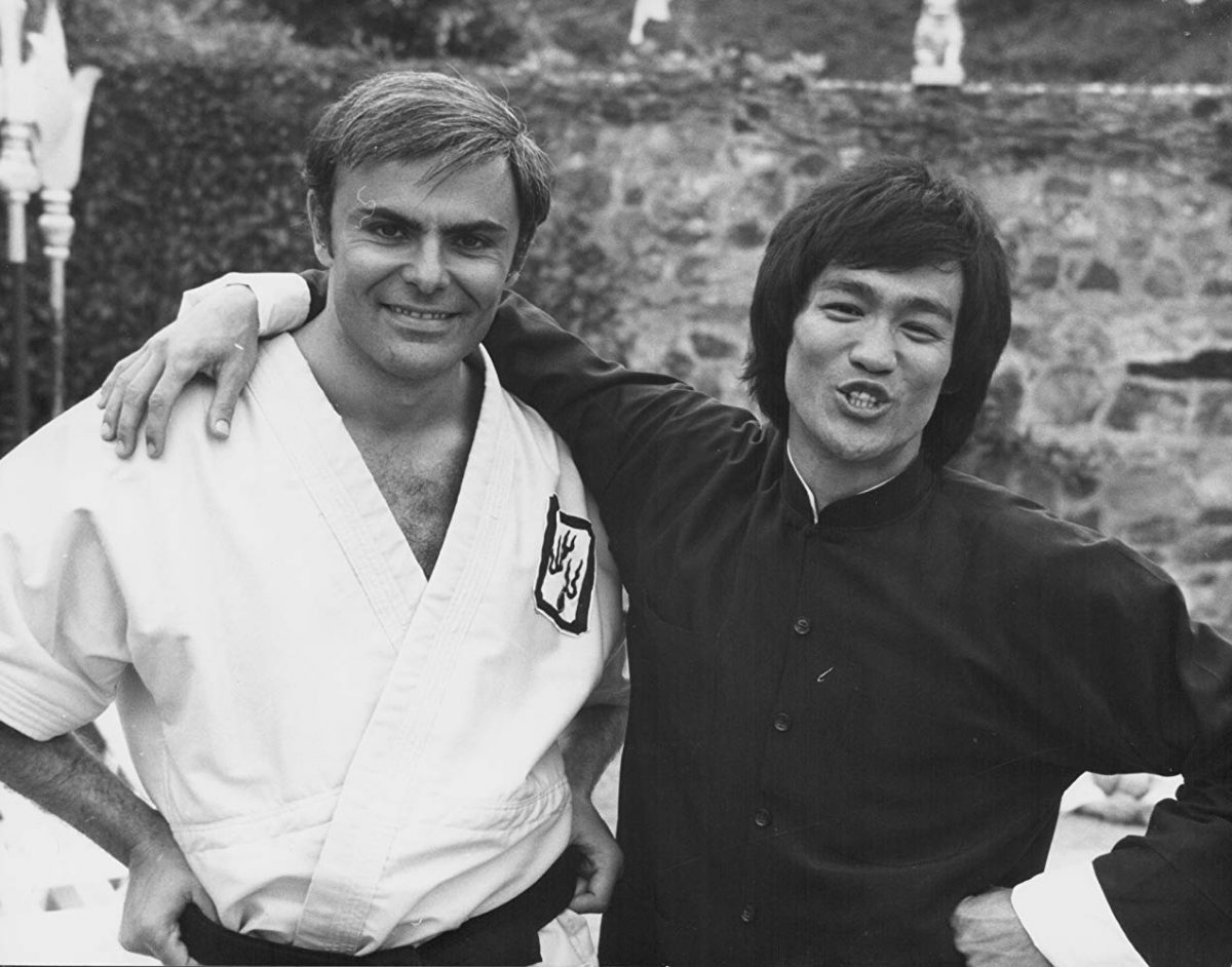 Bruce Lee with John Saxon