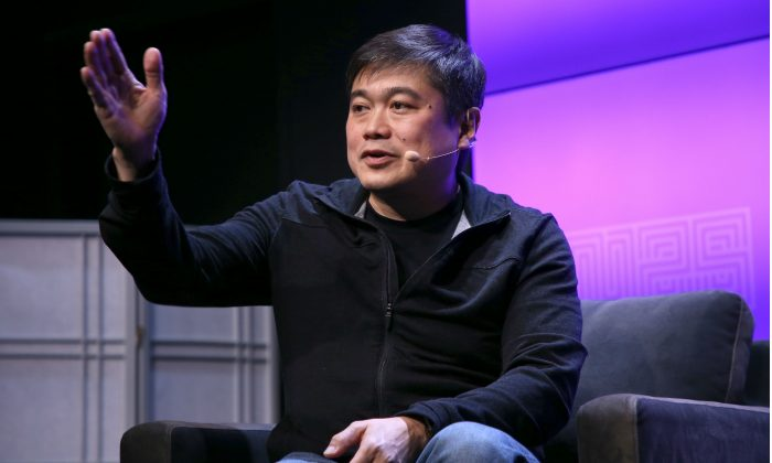 Joi Ito speaks onstage at WIRED25 Festival in San Francisco, Calif., on Oct. 13, 2018. (Phillip Faraone/Getty Images for WIRED25)