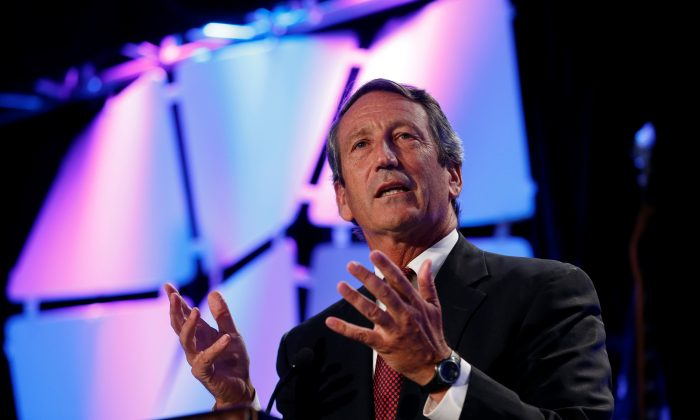 Rep. Mark Sanford (R-S.C.) speaks at the Liberty Political Action Conference (LPAC) in Chantilly, Va., on Sept. 19, 2013. (Kevin Lamarque/Reuters)