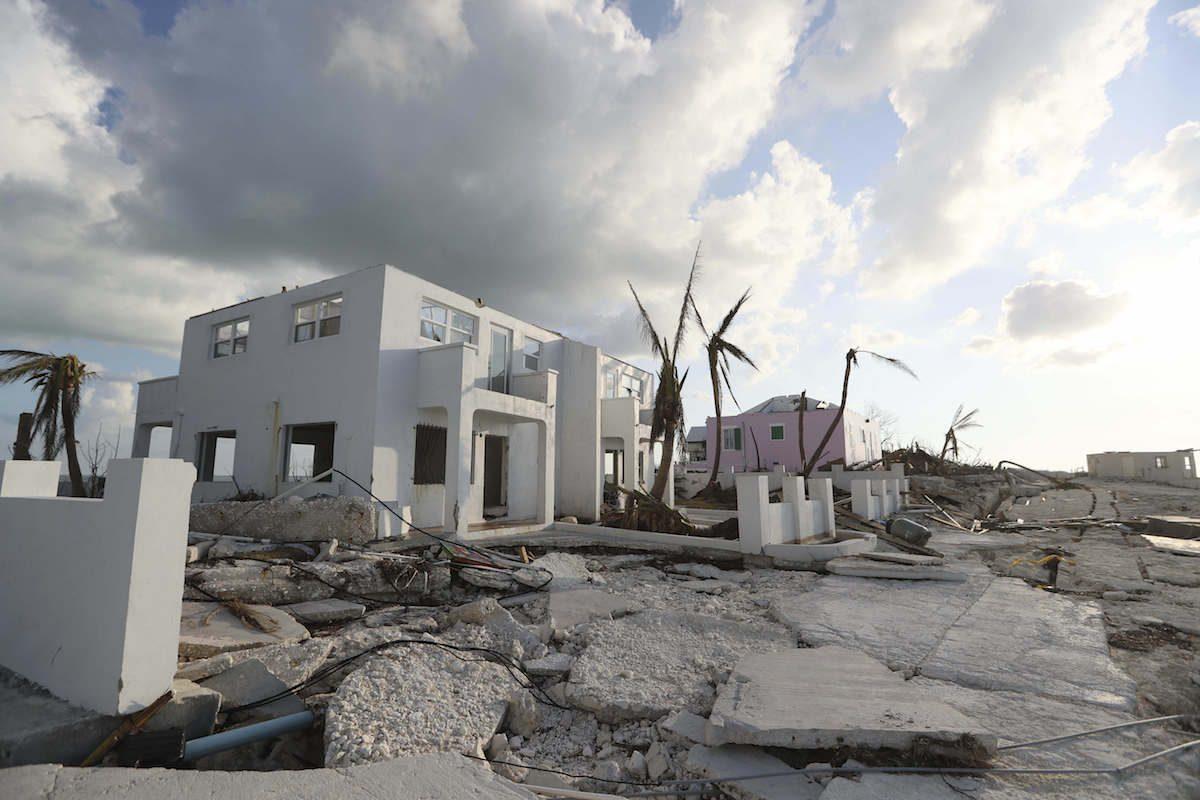 Destruction caused by Hurricane Dorian