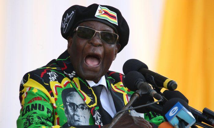 Then-Zimbabwean President Robert Mugabe delivers a speech on Nov. 4, 2017 in Bulawayo, Zimbabwe. (Zinyange Auntony/AFP/Getty Images)