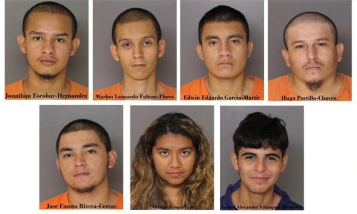 Seven suspects have been charged with first degree murder in the death of Daniel Alejandro Alvarado Cuellar. (Baltimore Police)