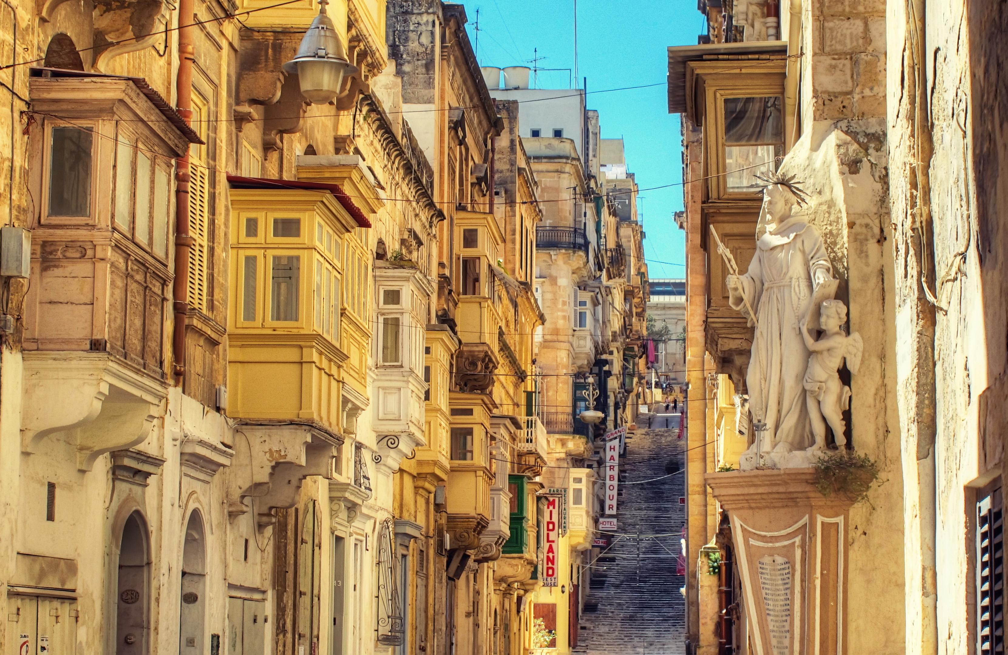 battery street in Valletta