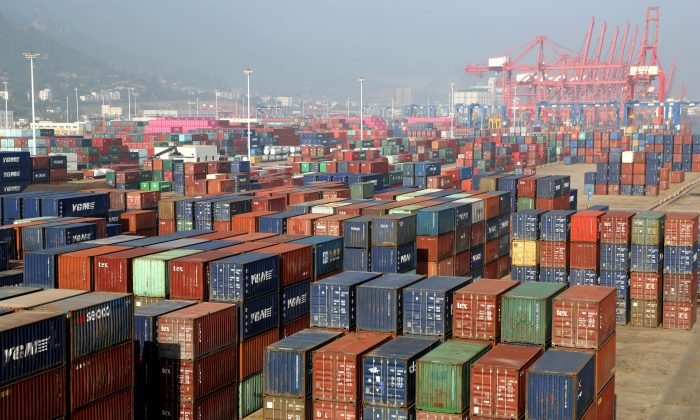 Containers are seen at a port in Lianyungang, Jiangsu Province, China on June 10, 2019. (Reuters)