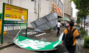 Woman Killed as Strong Typhoon Lashes Japan