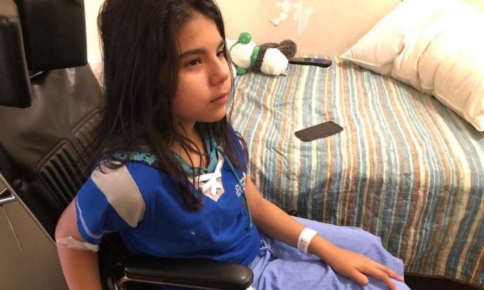 13-year-old Natalia Rodriguez speaks about a hit-and-run crash that left her with a broken leg on Sept. 6, 2019. (Courtesy of LAPD via KTLA)