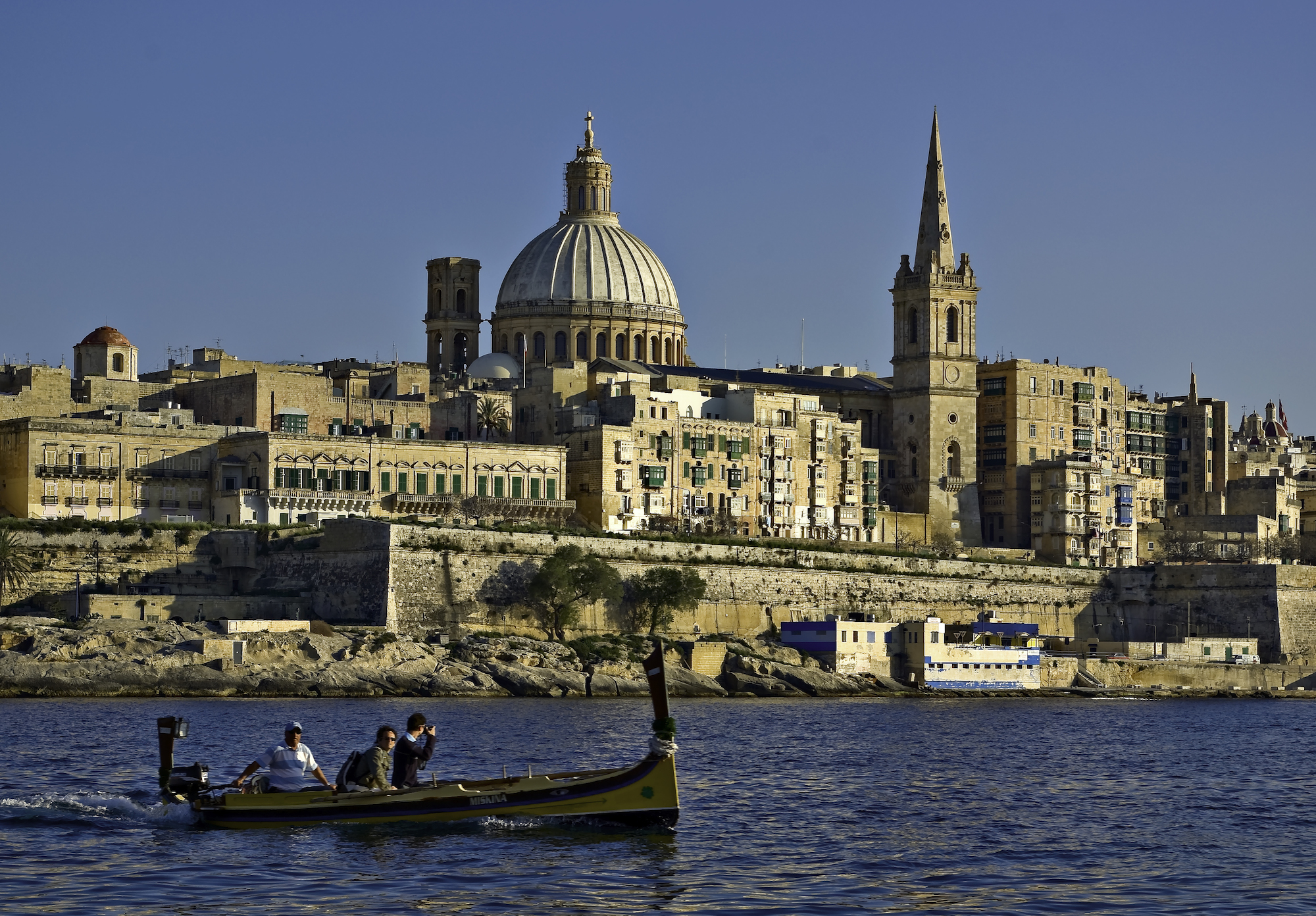 Valletta coastline in malta