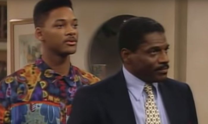"""Will Smith (L) and John Wesley appear in an episode of """"The Fresh Prince of Bel Air."""" (Courtesy of NBC via YouTube)"""