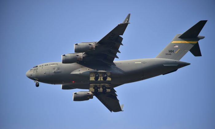 A U.S. Air Force plane in a file photograph. (Jung Yeon-Je/AFP/Getty Images)