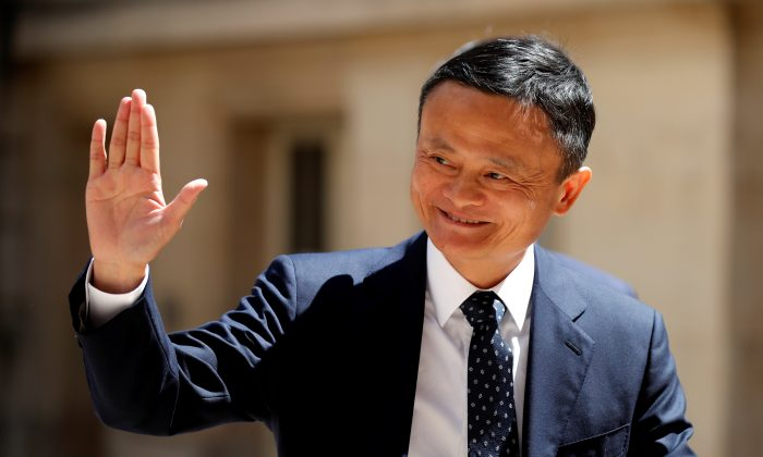 "Jack Ma, chairman of Alibaba Group arrives at the ""Tech for Good"" Summit in Paris, France on May 15, 2019. (Charles Platiau/Reuters)"