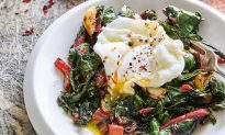 Poached Egg and Silky Braised Greens