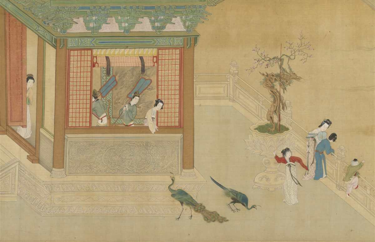 The first section of the handscroll Spring Morning in the Han Palace