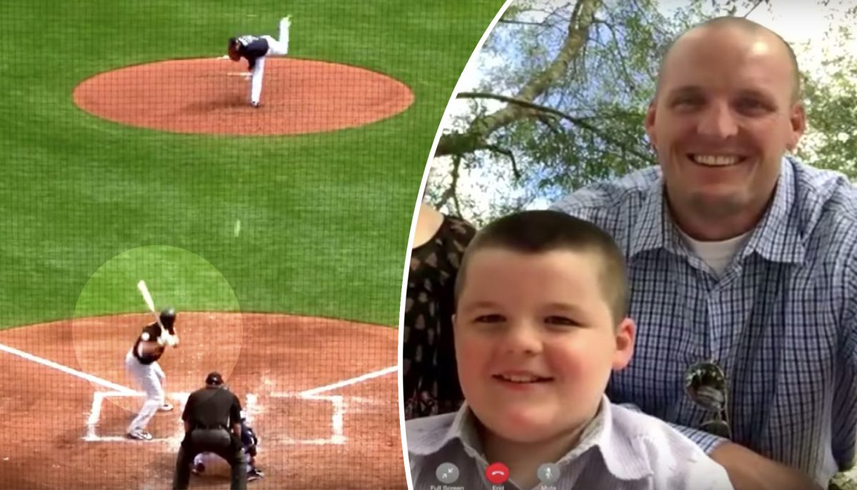 Terrifying Photo Shows How Dad Protected Son When Baseball Bat Goes Flying Into Stands