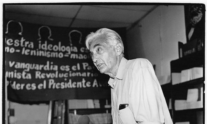 Howard Zinn at the Pathfinder book store in Los Angeles in August 2000.  Slobodan Dimitrov/CC BY-SA 4.0