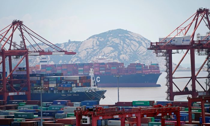 Containers are seen at the Yangshan Deep Water Port in Shanghai, China on Aug. 6, 2019. (Aly Song/Reuters)