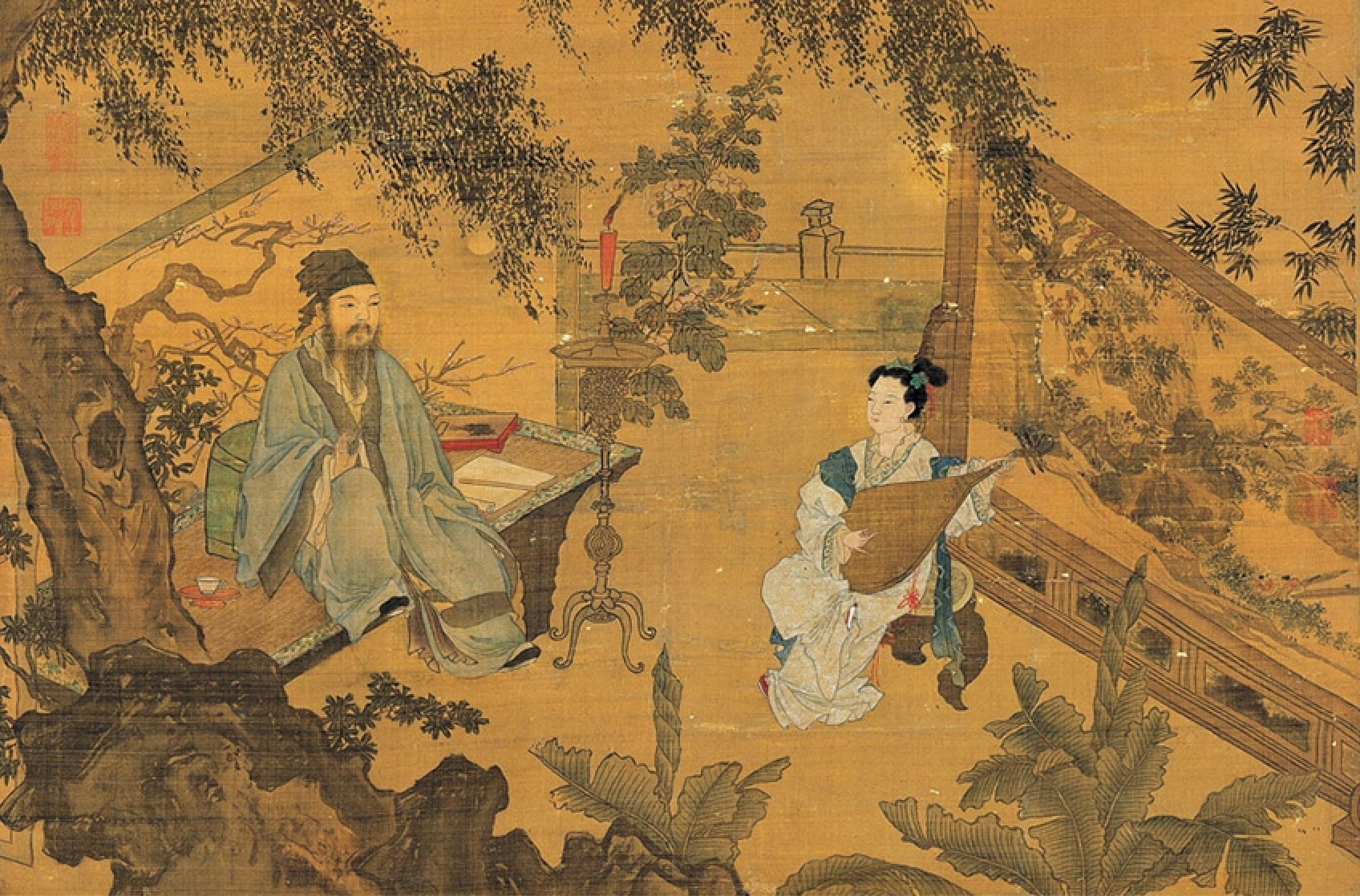 Two Ancient Chinese Paintings on Humility and Integrity