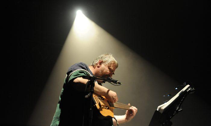 US artist Daniel Johnston performs in Bourges, during the 34th edition of Le Printemps De Bourges rock pop festival, on April 17, 2010. (ALAIN JOCARD/AFP/Getty Images)