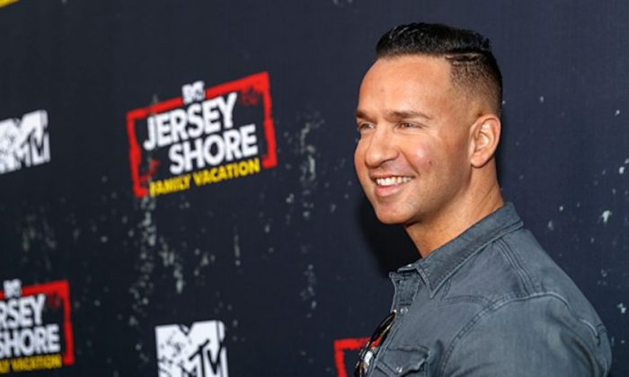 "Television personality Mike Sorrentino arrives at the ""Jersey Shore Family Vacation"" Premiere Party at Hyde Sunset Kitchen + Cocktails in West Hollywood, Calif., on March 29, 2018. (Rich Polk/Getty Images for MTV)"