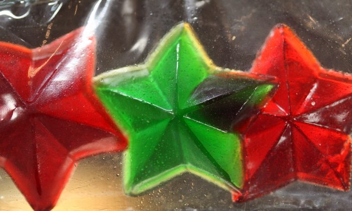 Gummy candy stars made of marijuana are seen at Perennial Holistic Wellness Center medical marijuana dispensary in Los Angeles, California, on July 25, 2012. (David McNew/File Photo via Getty Images)