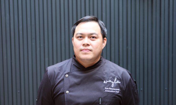 Chef Tom Naumsuwan serves traditional Thai street food with a modern twist at his first restaurant Wayla. (Diana Yen)