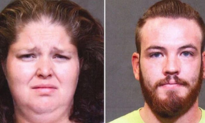 Emma Dietrich and Joshua Tennant are arrested after video showed them allegedly doing nothing when a child was bulled at a day care. (Franklin County Jail)