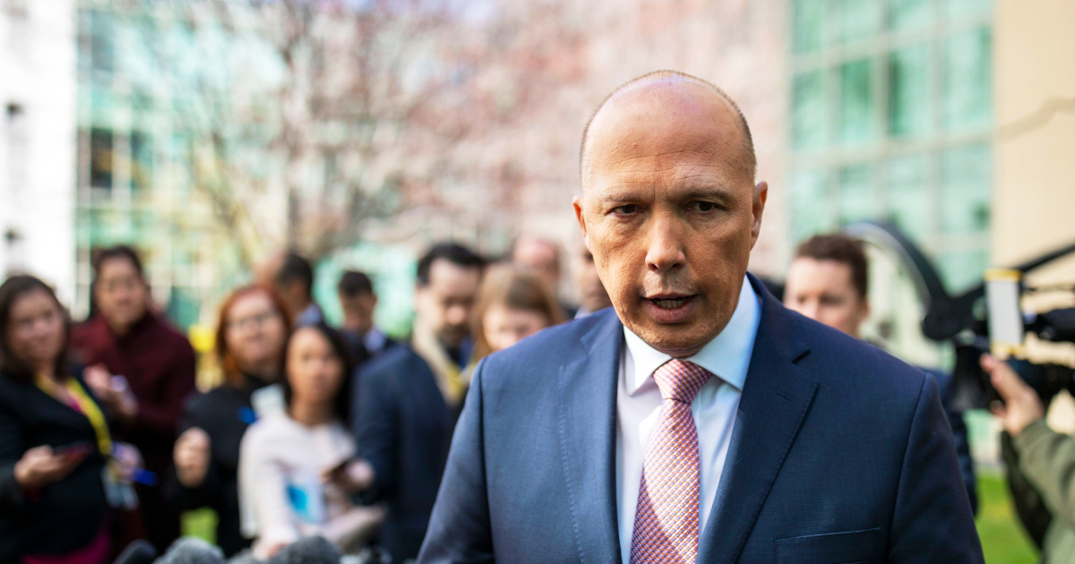 Australian Home Affairs Minister Peter Dutton