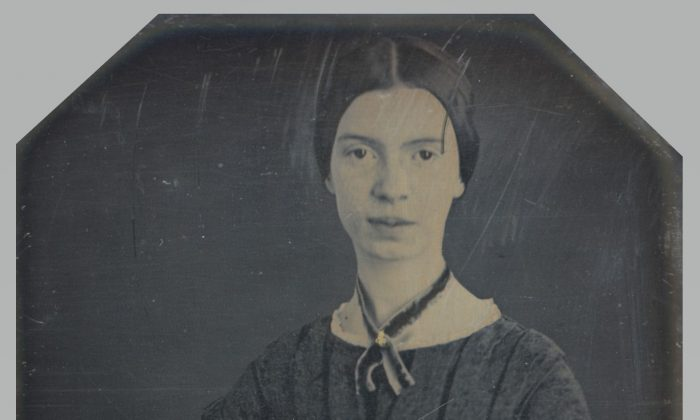 A daguerreotype taken in December 1846 or early 1847; the only authenticated portrait of Emily Dickinson after childhood.  Amherst College Archives & Special Collections. (Public Domain)